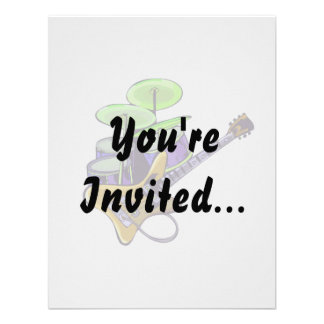 electric guitar drumset yellow.png personalized invites