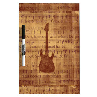 Electric Guitar Dry-Erase Board