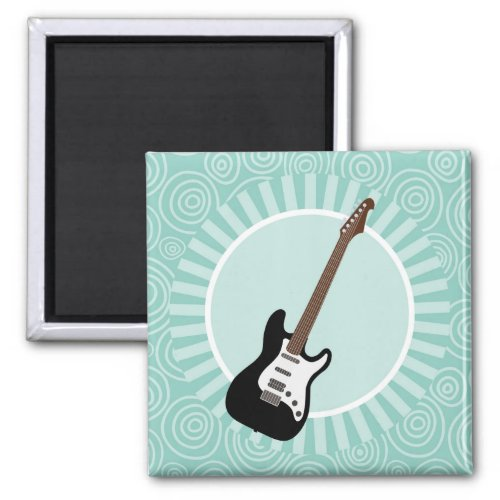 Electric Guitar Fun Turquoise Swirl Music Magnet