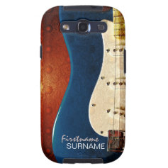 Electric Guitar Grunge Custom Name Galaxy S3 Galaxy SIII Covers