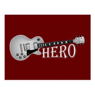 Electric Guitar Hero Postcard