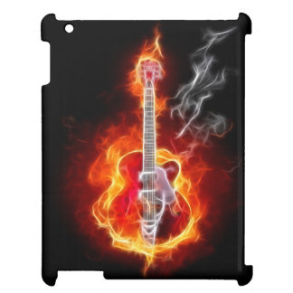 Electric Guitar In Flames Case For The iPad 2 3 4