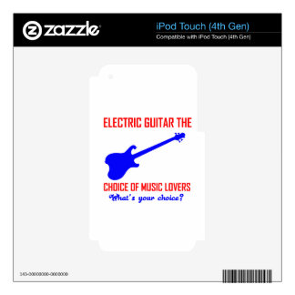 electric guitar  instrument design skin for iPod touch 4G