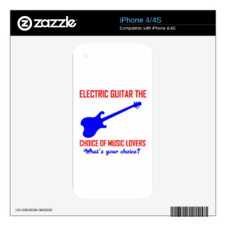 electric guitar  instrument design skins for iPhone 4