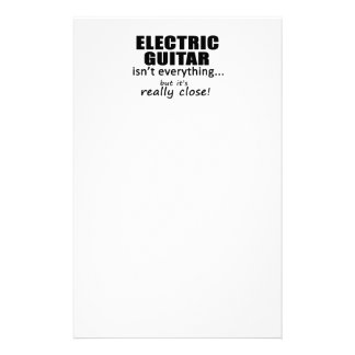 Electric Guitar Isn't Everything Customized Stationery