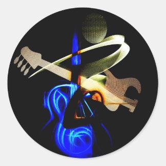 ELECTRIC GUITAR.jpg Classic Round Sticker
