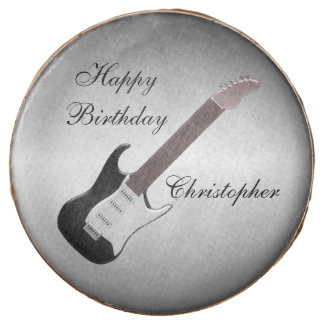 Electric Guitar Just Add Name Birthday Chocolate Dipped Oreo