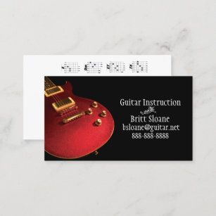 Guitar chords business cards templates zazzle electric guitar lessons template free chord chart business card reheart Choice Image