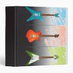 Electric Guitar Lovers Dream 3 Ring Binder