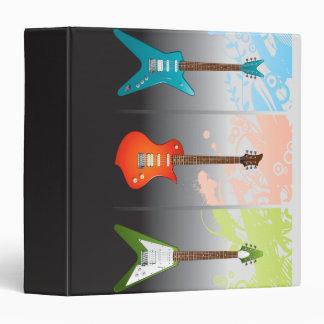 Electric Guitar Lovers Dream 3 Ring Binders