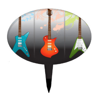 Electric Guitar Lovers Dream Cake Topper