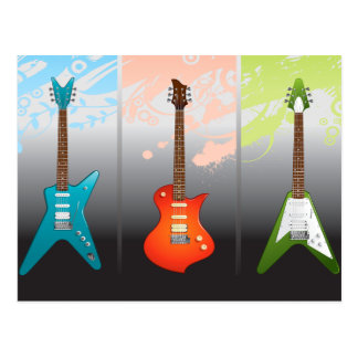 Electric Guitar Lovers Dream Postcards