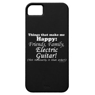 Electric Guitar Makes Me Happy iPhone SE/5/5s Case