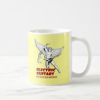 electric guitar classic white coffee mug
