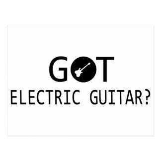 ELECTRIC GUITAR music designs Postcard