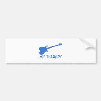 Electric Guitar my therapy Bumper Sticker
