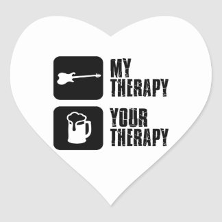 electric-guitar  my therapy heart stickers