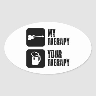 electric-guitar  my therapy oval sticker