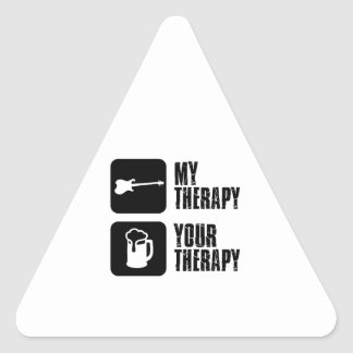 electric-guitar  my therapy triangle sticker