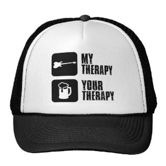 electric-guitar  my therapy trucker hat