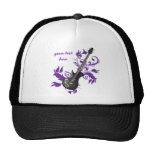 Electric guitar on purple leaves custom products hats