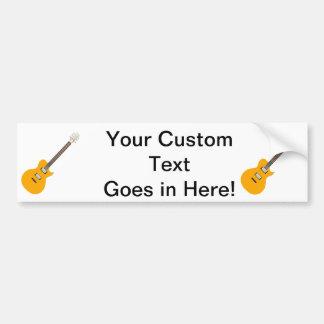 electric guitar orange.png bumper sticker
