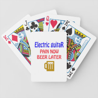 electric guitar Pain now beer later Bicycle Playing Cards