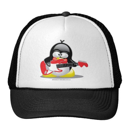 Electric Guitar Penguin Trucker Hat