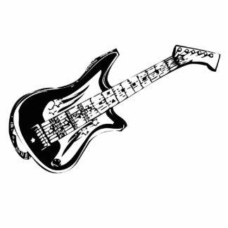 Electric Guitar Standing Photo Sculpture