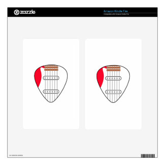 Electric Guitar Pick Kindle Fire Decals