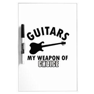 electric-guitar player dry erase board