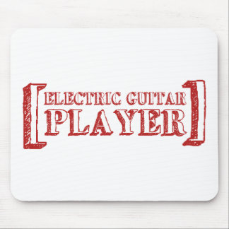 Electric Guitar Player Mouse Pad