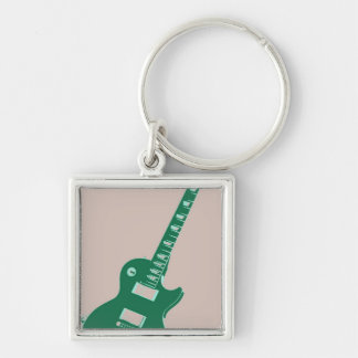 Electric Guitar Pop Art Keychains