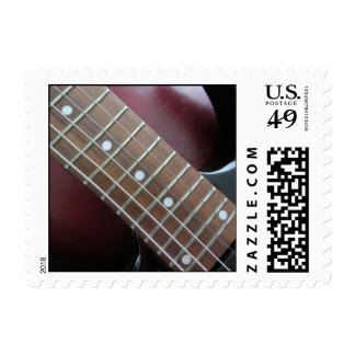Electric Guitar Postage Stamp