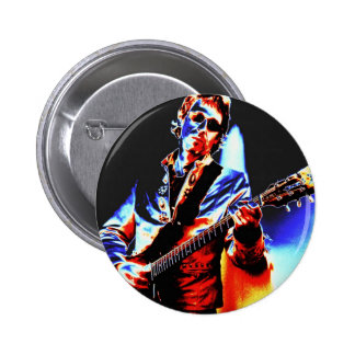 Electric Guitar Poster Art 2 Inch Round Button