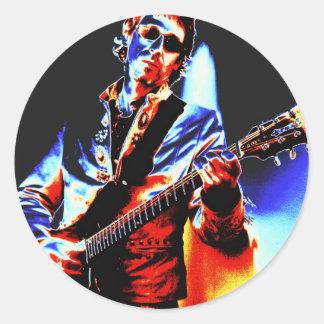 Electric Guitar Poster Art Classic Round Sticker