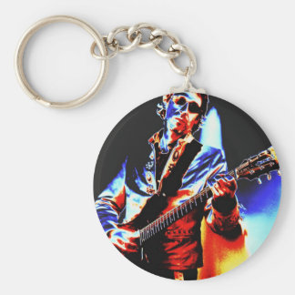 Electric Guitar Poster Art Basic Round Button Keychain