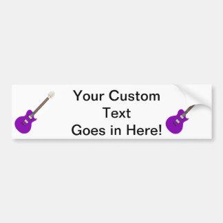 electric guitar purple.png bumper sticker