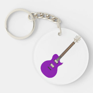 electric guitar purple.png Double-Sided round acrylic keychain