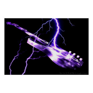 ELECTRIC GUITAR purple Poster