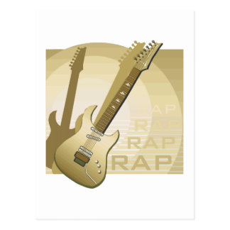 electric guitar rap word music bronze png post cards