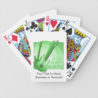 electric guitar rap word music green.png bicycle playing cards