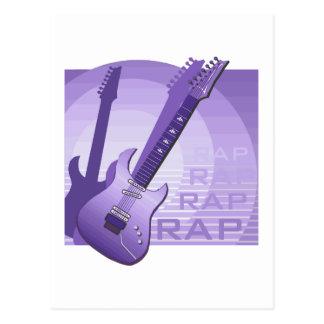 electric guitar rap word music purple png postcards