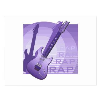 electric guitar rap word music purple png postcard