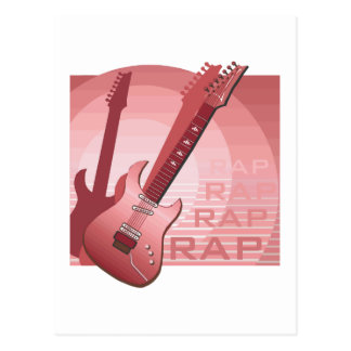 electric guitar rap word music red png postcards