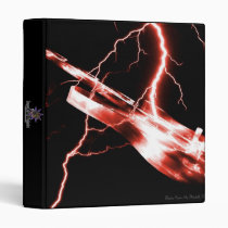 guitar, guitars, electric, lightning, rock, music, instrument, instruments, band, country, light, Binder with custom graphic design