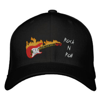 Electric Guitar Rock N Roll Embroidered Cap