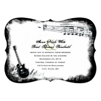 Electric Guitar Rough Music Wedding Invitation
