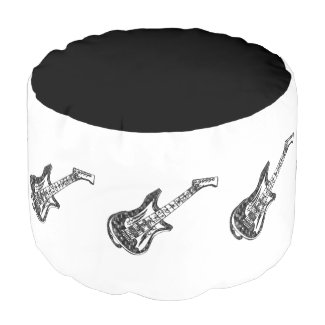 Electric Guitar Round Pouf