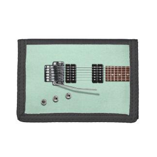 Electric Guitar Seafoam Green Tri-fold Wallet